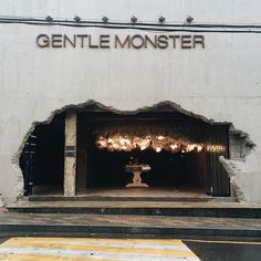 Gentle monster - front of restaurant