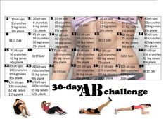 The 30 Day Abs Challenge - Hot Or Not A brand-new health and fitness difficulty has actually just recently swept via social media. It is called the 30 day AB challenge and it lays out a Thirty Days Abdo Challenge, 30 Day Squat Challenge, Workout Challenge, Challenge Accepted, Monthly Challenge, Month Workout, Crunch Challenge, Challenge Ideas, Belly Challenge