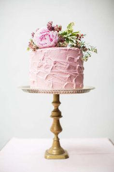 Yummy Pink Butter-cream & Flowers