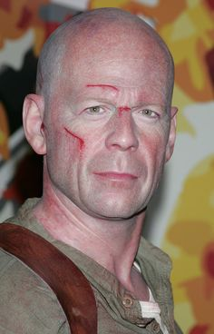 Wax figure of Bruce Willis Madame Tussauds in Hollywood