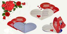 Livrets de messe en forme de cœur