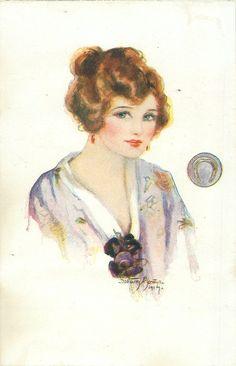 My Mascot Set - Dorothy Mostyn, First Used: 1915, Mascot is a  Horseshoe