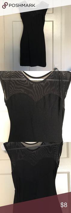 Little black dress Mini black dress with mesh top and back - like new condition Dresses Mini