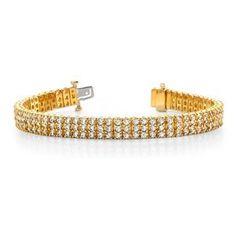 Ein Diamantarmband mit 6.00 Karat Diamanten aus 585er Gelbgold gefertigt. Dieses Diamantarmband ist erhältlich bei www.juwelierhausabt.de in Dortmund.