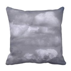Puffy Clouds Blue Sky Nature Throw Pillow - decor gifts diy home & living cyo giftidea