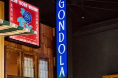 Gondola Gondola will soon open on Adelaide's Peel and Hindley Street corner. Pegged to feature top quality sake, whiskey and Asian cuisine. Rip It Up, Rose Brand, Food And Drink, Neon Signs, Bar, Street, Whiskey, Corner, Whisky