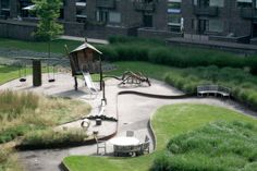Playground in the Charlotte Garden housing complex, Copenhagen by Stig L. Andersson. Click image for full profile and visit the slowottawa.ca boards >> http://www.pinterest.com/slowottawa/boards/
