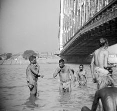 Hooghly River, Calcutta under the shadow of the Howrah bridge