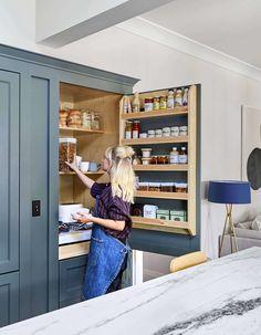 Kitchen Buffet, Mini Kitchen, Kitchen Pantry, Rustic Kitchen, Kitchen Cabinets, Small Kitchen Organization, Pantry Organization, Kitchen Storage, Organized Pantry