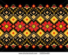 Vector illustration of ukrainian pattern ornament