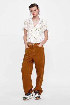 Jeans SKINNY ZARA da donna Taglia 44 UK 16 Peach Donna Basic Pantaloni Donna £ 25.99