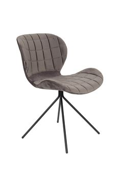 OMG velvet chair - Grey
