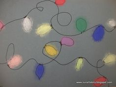 Sharpie and pastel chalk on grey paper.  What a great simple quickie holiday lesson!