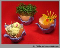 Easter ornaments / Wielkanocne ozdoby ze skorupek