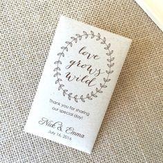 Faveurs de mariage personnalisé semences Packet par MaxandBella