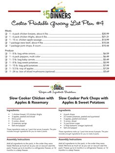 Find out how to shop at Costco and make 20 Slow Cooker Freezer Packs for $150!  Plus all recipes are gluten free! | 5DollarDinners.com