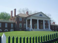 Montpelier, the home of James and Dolley Madison, in Orange, Virginia.