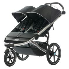 Thule Urban Glide 2 Double Jogging Stroller with Snack Tray & Cup Holder Console Best Lightweight Stroller, Best Double Stroller, Double Strollers, Running With Stroller, Baby Jogger Stroller, Baby Strollers, Running Strollers, Disney Babys, Umbrella Stroller