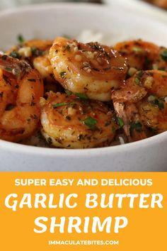 Buttered Shrimp Recipe, Cooked Shrimp Recipes, Shrimp Recipes For Dinner, Seafood Dinner, Cooking Recipes, Healthy Recipes, Chinese Garlic Shrimp Recipe, Indian Shrimp Recipes, Drunken Shrimp Recipe