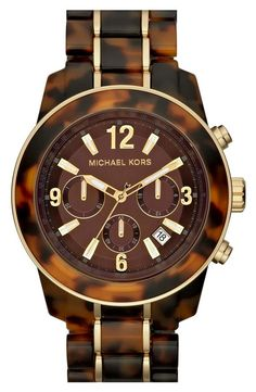 Michael Kors 'Preston' Chronograph Bracelet Watch - nice updated version of their earlier tortoise design.