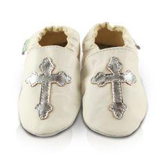 Snuggle Feet – Suaves Zapatos De Cuero Del Bebé Bautizo (0-6 meses)
