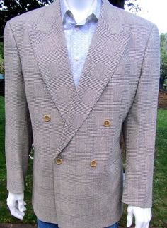 Boss  mens double breasted tweed jacket 55% silk 45% wool 40-42chest