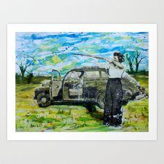 Hunting Art Print by Xan Turner - $15.60