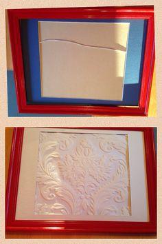 Upcycled broken glass kids photo frame