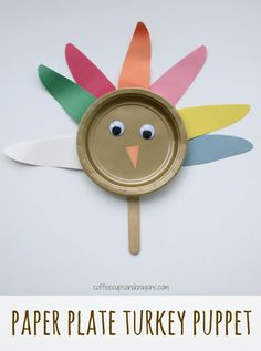 Gobble gobble! These turkey paper plate crafts are simple enough for preschoolers to make and Craft Activities, Preschool Crafts, Kids Crafts, Crafts To Make, Easy Crafts, Activity Ideas, Paper Plate Crafts For Kids, Craft Stick Crafts, Craft Ideas