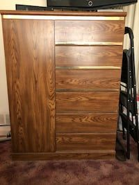 Used brown wooden 2-drawer chest in Temple Hills