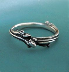 Sterling Silver Twig Ring  Oak Branch by esdesigns on Etsy, $58.00
