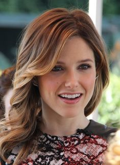 Sophia Bush with shoulder length hair