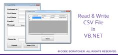 Read and Write CSV File in VB.NET