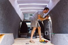 The perfect instructions for wiring a campervan light system! LED strip lights or recessed lighting in a camper or RV really make the interior layout look welcoming. This is also perfect for any kitchen or bathroom setup! Good step-by-step electric system guide! #vanlife