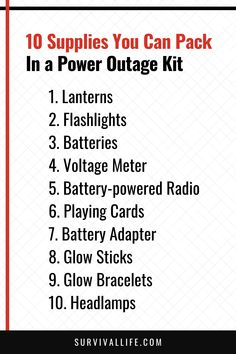 A power outage kit is a survival kit that every prepper should invest in. Power outages are relatively common, and some may take longer than expected. #poweroutage #blackout #poweroutagekit #blackoutkit #survival #preparedness #survivallife Survival Life, Survival Skills, Power Outage Kit, Glow Bracelets, Glow Kit, Safety Tips, Emergency Preparedness, Deck Of Cards, Investing