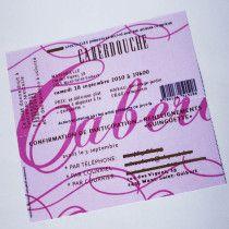Faire-parts - créations graphiques  invitation soirée cabaret verso