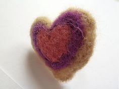 Martinuska / Srdce béžovo fialové
