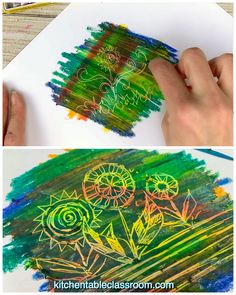 Use these fun oil pastel techniques to add texture, color, and interest to any kid's art project! Here are eight different ways to use oil pastel crayons! drawing videos 8 Unique Oil Pastel Techniques for Kids - The Kitchen Table Classroom Oil Pastel Crayons, Oil Pastel Art, Oil Pastel Drawings, Oil Pastels, Oil Pastel Paintings, Oil Pastel Techniques, Watercolor Techniques, Drawing Techniques, Kids Crafts