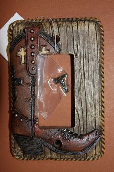 (1), ROCKER,SGL. COVER, COWBOY BOOTS,COUNTRY DECOR,HUNTING LODGE, WESTERN DECOR
