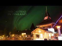 L'Aurora Boreale nel Villaggio di Babbo Natale,Rovaniemi in Lapponia Fin...