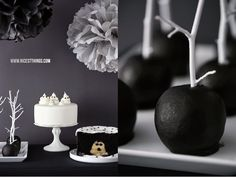 Halloween Sweet Table in Black and White