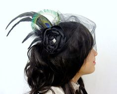 Hey, I found this really awesome Etsy listing at https://www.etsy.com/es/listing/79898383/velo-del-birdcage-pinza-de-pelo-del-pavo