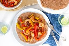 Mexicaanse fajita's met garnalen, paprika en ui - SKINNY SIX