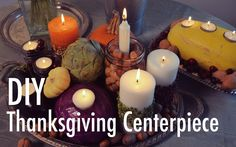 Creative Thanksgiving Centerpiece DIY with Mr. Kate