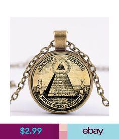 Necklaces & Pendants 4 Color Men Freemasonry Masonic Annuit Coeptis Pandant All-Seeing Eye Necklace #ebay #Fashion