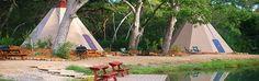 Rent a Tipi at Geronimo Creek Retreat • New Braunfels, TX