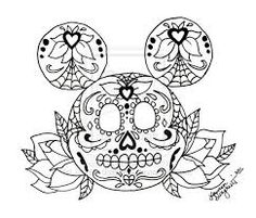 Sugar Skull Coloring Pages For Adults Yahoo Image Search - candy skull coloring pages