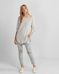 Extreme Circle Hem Volume Sleeve Sweater