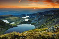 Seven Rila Lakes in Rila Mountain, Bulgaria