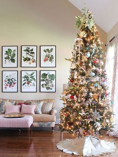 Be creative by decorating your Christmas tree with a favorite theme that suits your decorating style or your family's personality. We were inspired by a local festival of trees and have included tips for bringing the looks in